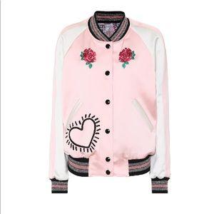 Coach X Keith Haring Pink Reversible Bomber Jacket